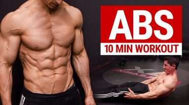 10 MIN AB WORKOUT // 6 PACK ABS // No Equipment   ATHLEAN X