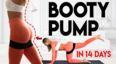 BOOTY PUMP in 14 Days (grow your butt) | 10 minute Home Workout