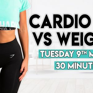 CARDIO BOX vs WEIGHTS BURN | 30 minute Home Workout