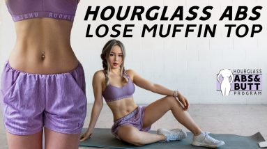 Hourglass Abs Workout  🙋♀️Lose Muffin Top & Love Handles | 10 Mins