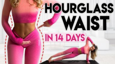 HOURGLASS WAIST & ABS in 14 Days (lose fat) | 8 minute Home Workout