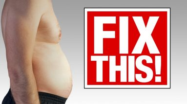 """How to Lose """"Stubborn"""" Belly Fat (GONE IN 4 STEPS!)"""
