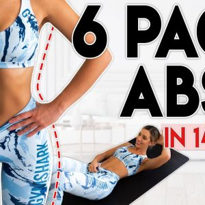 INTENSE 6 PACK ABS in 14 Days (fat burn) | 5 minute Home Workout