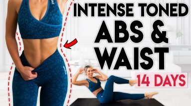 INTENSE TONED ABS and WAIST in 14 Days | 6 minute Home Workout