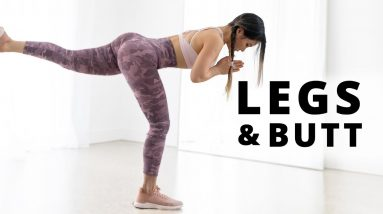 Leg, Butt & Thigh Workout | 15 Min At Home with or without dumbbells