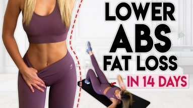 LOWER ABS FAT LOSS in 14 Days (intense) | 8 minute Home Workout