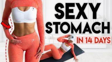 SEXY STOMACH in 14 Days (burn fat) | 6 minute Home Workout