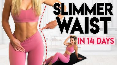 SMALLER WAIST in 14 Days (lose fat) | 10 minute Home Workout