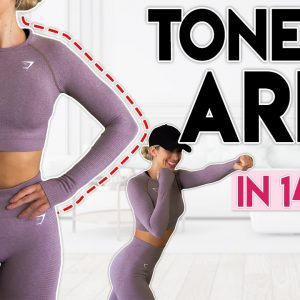 TONED ARMS in 14 Days (fat burn boxing)   10 minute Home Workout