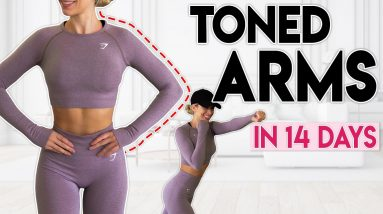 TONED ARMS in 14 Days (fat burn boxing) | 10 minute Home Workout