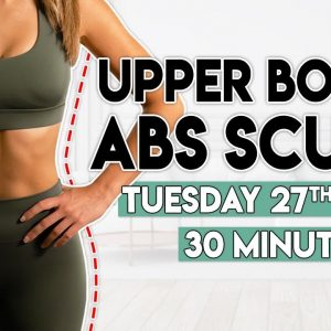 UPPER BODY and ABS SCULPT | 30 minute Home Workout