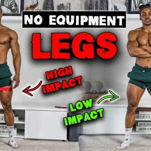 20 MINUTE LEGS & THIGH WORKOUT TO REDUCE FAT! (NO EQUIPMENT) | HIGH & LOW IMPACT!