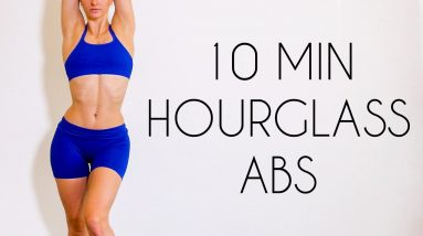 10 min LOWER ABS & LOVE HANDLE WORKOUT (No Equipment Belly Burn)