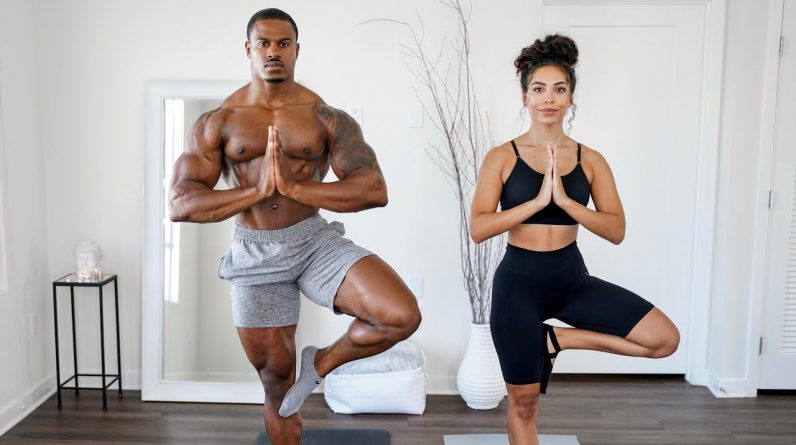 10 MIN MORNING YOGA | FOR COMPLETE BEGINNERS! WITH CHANEL COCO BROWN
