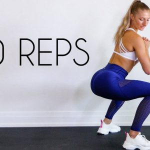 100 REP SQUAT CHALLENGE (Effectively Tone & Lift the Booty & Thighs)
