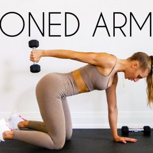 11 MIN TONED ARMS WORKOUT (At Home Minimal Equipment)