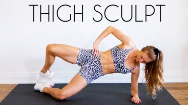 15 MIN TONED INNER & OUTER THIGH Workout (No Equipment)