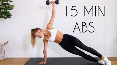 15 MIN TOTAL CORE/AB WORKOUT (At Home Equipment Optional)