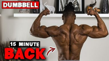 15 MINUTE DUMBBELL BACK WORKOUT AT HOME