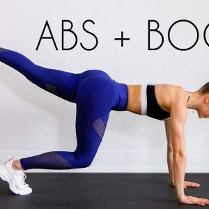 2 in 1- FLAT BELLY & ROUND BOOTY 30 min Workout (Minimal Equipment)