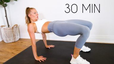 2 in 1- FLAT BELLY & ROUND BOOTY 30 min Workout (No Equipment)