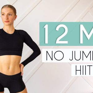 12 min FULL BODY HIIT NO JUMPING (Apartment Friendly Fat Burning Workout)