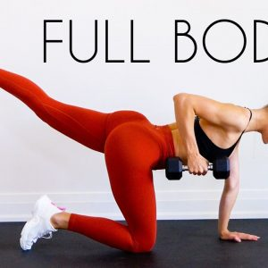 20 MIN FULL BODY HIIT Workout (At Home With Weights)