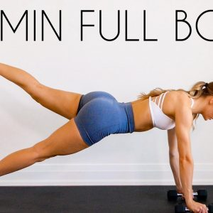 20 min FULL BODY HIIT WORKOUT with Minimal Equipment (At Home Fat Burn)