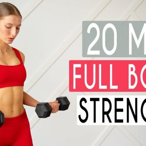 20 MIN FULL BODY TONING & STRENGTH - Total Body Workout At Home