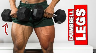 25 MINUTE LEG WORKOUT AT HOME   LIGHT DUMBBELLS ONLY