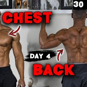 30 MINUTE CHEST AND BACK WORKOUT AT HOME (DUMBBELLS ONLY!) - DAY 4