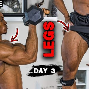 30 MINUTE SHOULDER AND LEG WORKOUT AT HOME (DUMBBELLS ONLY!) - DAY 3