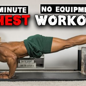 5 MINUTE CHEST WORKOUT (NO EQUIPMENT) | PUSHUPS FOR ALL PARTS OF THE CHEST