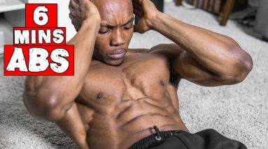 6 MINUTE FAT BURNING AB WORKOUT | DAY 22-24 (NO EQUIPMENT)