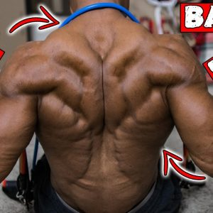 BACK AND BICEP WORKOUT AT HOME WITH RESISTANCE BAND ONLY!