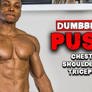 DUMBBELL PUSH HOME WORKOUT FOR MUSCLE GAIN | BENCH OR NO BENCH (FULL WORKOUT)