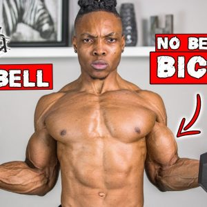 DUMBBELL ONLY BICEP WORKOUT AT HOME | NO BENCH NEEDED!
