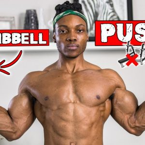 DUMBBELL PUSH WORKOUT AT HOME | LIGHT DUMBBELLS ONLY | NO BENCH