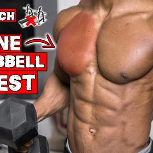 SINGLE DUMBBELL CHEST WORKOUT AT HOME | WORKOUT WITH ONLY ONE DUMBBELL! | NO BENCH NEEDED!
