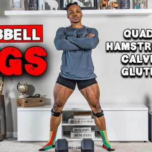 DUMBBELL LEG WORKOUT FOR BUILDING MUSCLE MASS | BENCH OR NO BENCH (FULL WORKOUT)
