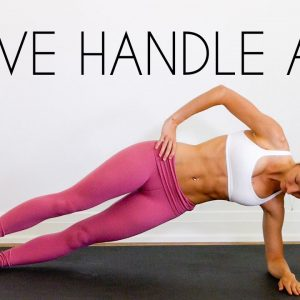 Love Handle Workout (10 MIN OBLIQUE BURN) Abs Workout At Home!
