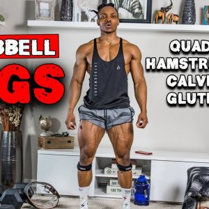 DUMBBELL LEG HOME WORKOUT FOR MUSCLE GAIN | BENCH OR NO BENCH (FULL WORKOUT)