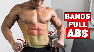 RESISTANCE BAND SIX PACK AB WORKOUT! (BEGINNER AND ADVANCED)