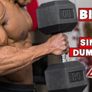 SINGLE DUMBBELL BICEP WORKOUT AT HOME | WORKOUT WITH ONLY ONE DUMBBELL!