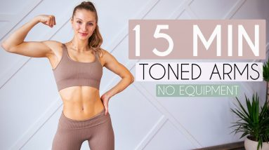 TONED ARMS WORKOUT - No Equipment (quick + intense)