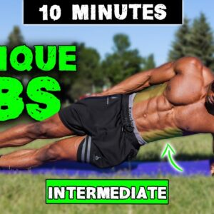 10 MINUTE ABS WORKOUT (NO EQUIPMENT) | INTERMEDIATE OBLIQUES | LEVEL 2 ABS