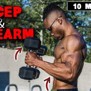10 MINUTE DUMBBELL BICEP & FOREARM WORKOUT!