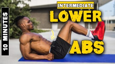 10 MINUTE LOWER ABS WORKOUT (NO EQUIPMENT) | INTERMEDIATE | LEVEL 2 ABS