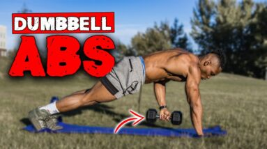 12 MINUTE DUMBBELL AB WORKOUT | LEVEL 2 ABS (INTERMEDIATE)