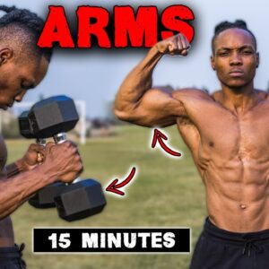 15 MINUTE DUMBBELL ONLY ARMS | BICEP & TRICEP WORKOUT